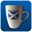 'one more yes' Mug (earthenware)