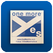 'one more yes' self-cling Car Window Sticker