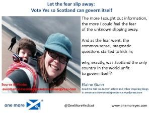Fear slip away
