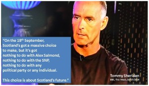 Tommy Sheridan This choice