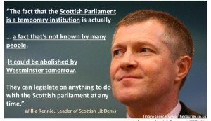 Willie Rennie Temporary institution