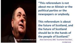 Alex Salmond Future in Scottish hands