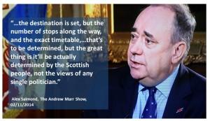 Alex Salmond Destination is set The Andrew Marr show