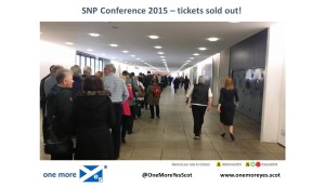 SNP Conf 2015 - tickets sold out