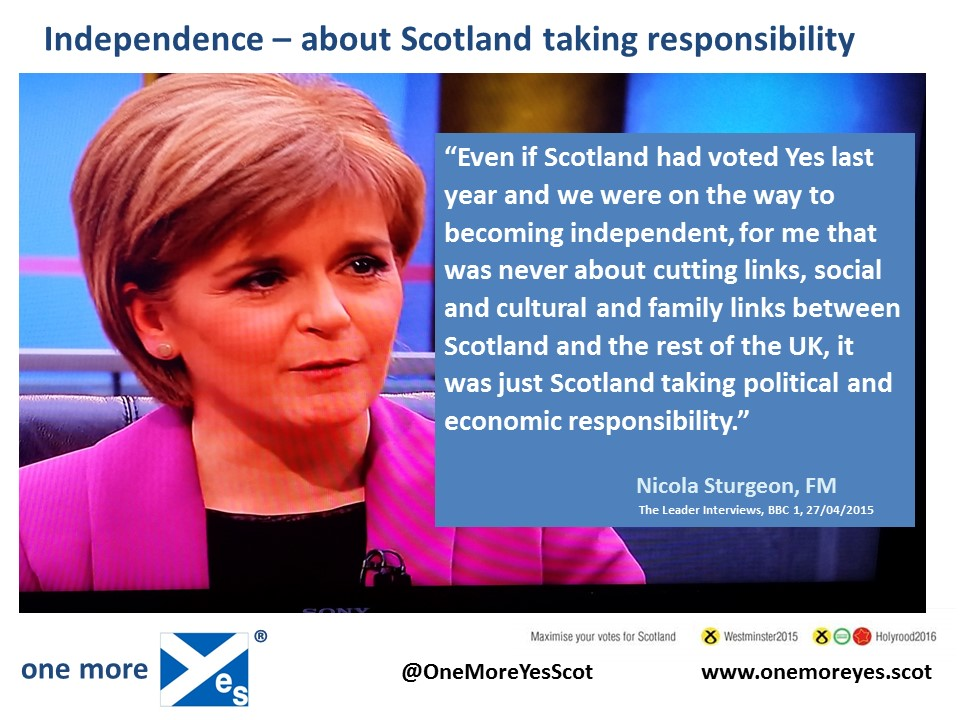with independence comes greater responsibility Over time, their confidence will grow and the breadth of responsibility will widen  increased independence often comes with the need for a new skill set.