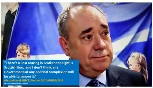Alex Salmond Scottish Lion