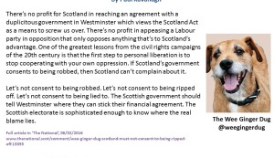 Wee Ginger Dug Scotland Bill
