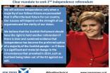 Mandate - Second independence referendum
